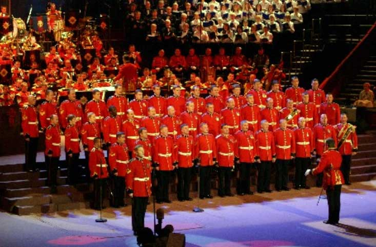 The choir of the Prince of Wales's Division