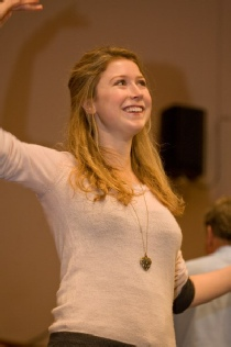 Hayley Westenra pictured at a rehearsal